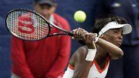 Venus Williamsová při utkání na turnaji v Amelia Island.