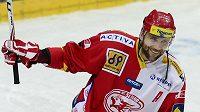 Autor rozhodujícího gólu v prodloužení duelu se Zlínem, obránce Slavie Pavel Kolařík.