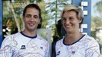 Oštěpaři Vítězslav Veselý a Barbora Špotáková před odletem na olympijské hry do Londýna
