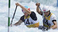 V olympijské kvalifikaci uspěla i nově složená dvojice kanoista Stanislav Ježek (vpravo) a kajakář Vavřinec Hradilek