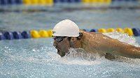 Michael Phelps na své oblíbené trati 200 metrů motýlek.