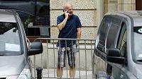 Michal Bílek v centru polské Vratislavi během volného dne, po zápase s Polskem