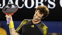 Andy Murray byl ke konci finále naštvaný hlavně na sebe.
