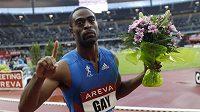 Vítěz pařížského sprintu Tyson Gay