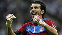 Radost italského gólmana Gianluigiho Buffona