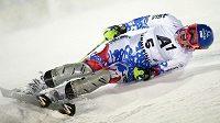 Slovenská lyžařka Veronika Zuzulová se raduje z triumfu v Semmeringu.