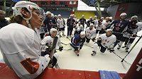 Hokejisté Petrohradu na tréninku v Havlíčkově Brodě