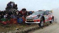 Martin Prokop při soutěži WRC Fafe Rally Sprint, která mu posloužila jako příprava na Portugalskou rallye.