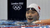 Čínská plavkyně Jie Š'-wen na olympijských hrách v Londýně ohromila plavecký svět.