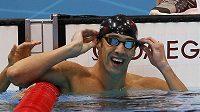 Hvězdný plavec Michael Phelps slaví svoje další olympijské zlato, tentokrát v závodu na 100 m motýlek