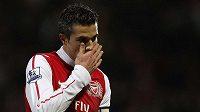 Zklamaný Robin Van Persie z Arsenalu