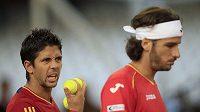 Fernando Verdasco a Feliciano López v sobotní čtyřhře v daviscupovém finále neuhráli ani set.