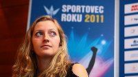Tenistka Petra Kvitová při slavnostní anketě Sportovec roku