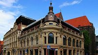 Hotel Monopol ve Vratislavi, kde bude bydlet během evropského šampionátu česká fotbalová reprezentace.