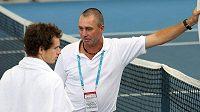 Ivan Lendl se svým svěřencem Andym Murrayem na turnaji v Brisbane.