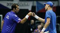 Radek Štěpánek s Tomášem Berdychem vyhráli sobotní čtyřhru a rozhodli o postupu Česka nad Itálií do čtvrtfinále Davisova poháru.