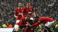 Radost fotbalistů Manchesteru United