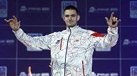 Ondřej Synek v novém oblečení pro olympiádu v Londýně.