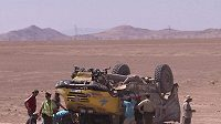 Lopraisova tatra se na Dakaru řítila do propasti.