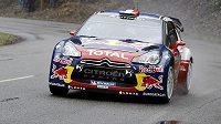 Francouz Sebastien Loeb na rallye Monte Carlo