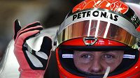 Michael Schumacher během testů v Jerezu.