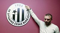 Tomáš Řepka pod logem jihočeského klubu.