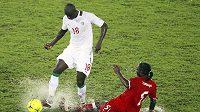 Fousseny Kamissoko z Rovníkové Guineye (vpravo) a Guirane N´Daw ze Senegalu.