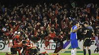 Radost fotbalistů Mirandés