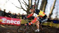 Belgický cyklokrosař Sven Nijs při závodu Světového poháru Hoogerheide.