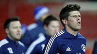 Klaas-Jan Huntelaar ze Schalke na tréninku