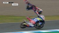 Český motocyklový závodník Filip Salač měl během tréninkového dne před motocyklovou Velkou cenou Japonska těžký pád.
