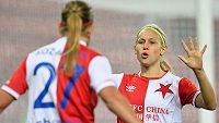 Fotbalistky Slavie první utkání 2. kolo Ligy mistryň zvládly. Do odvety s islandským Stjarnanem si vezou jednogólový náskok.