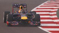 Sebastian Vettel z Red Bullu ovládl oba tréninky na nedělní Velkou cenu Indie.