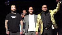 Český rapper Marpo (vlevo) a Karlos Vémola se v listopadu utkají ve vzájemném boxerském duelu.