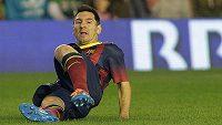 Lionel Messi si v nedělním zápase s Betisem Sevilla poranil levou nohu.