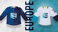 Dres týmu Evropy pro Světový pohár v hokeji.