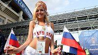 Nejkrásnější ruská fanynka na šampionátu, nebo pornohvězda?