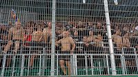 Fanoušci Sparty na stadionu Rapidu během utkání druhého předkola Ligy mistrů. (ilustrační foto)