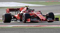 Nejrychlejším mužem úvodního tréninku na Velkou cenu Bahrajnu F1 byl Charles Leclerc s Ferrari.