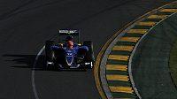 Brazilský jezdec Felipe Nasr z týmu Sauber.