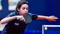 Jedenáctiletá pingpongistka Hend Zaza se kvalifikovala na olympijské hry.