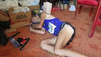 Vyčerpání, které ultra maratónci dobře znají. Daniel Orálek není výjimkou.