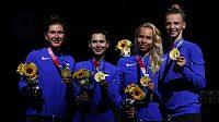Estonské šermířky vyhrály v Tokiu týmovou olympijskou soutěž kordistek