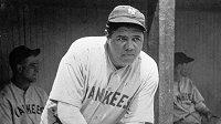 Legendární baseballista New Yorku Yankees Babe Ruth.
