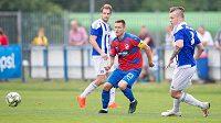 Plzeňský záložník Lukáš Kalvach odehrál první poločas přípravného utkání s Domažlicemi s kapitánskou páskou.
