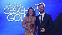 Profesionálové roku Klára Spilková a Stanislav Matuš převzali ocenění pro nejlepší golfisty uplynulé sezony.