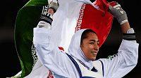 Taekwondistka Kimía Alízadeová na archivním snímku