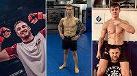 Peter Gabal, Jakub Tichota a Leo Brichta. Mladé naděje českého MMA.