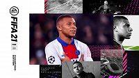 Tváří FIFY 21 je hvězdný Kylian Mbappé.
