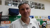 Trenér Děčína Tomáš Grepl.